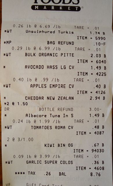 Receipt Week Seven, Part II