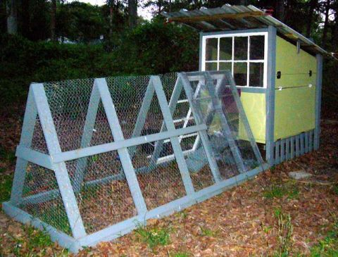 Salvaged Materials Chicken Coop