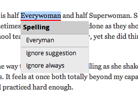 spell check changing everywoman to everyman